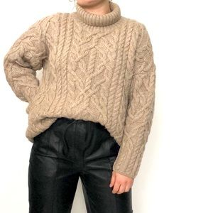 Polo land made in England chunky wool sweater